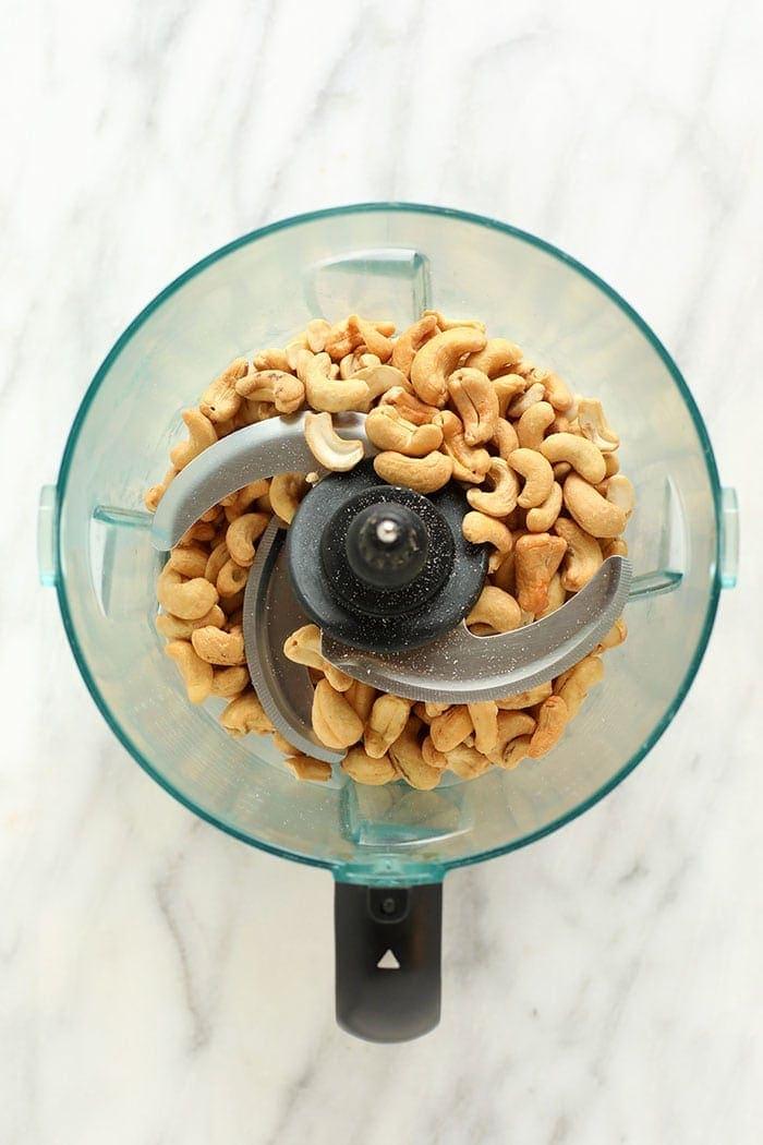 cashews in a food processor