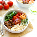 This amazing Superfood Taco Bowl recipe is meal prep at its finest. Prep everything for this delicious taco bowl (which doubles as a taco buddha bowl) at the beginning of the week to have a healthy fulfilling meal all week long that's kid friendly and protein-packed!