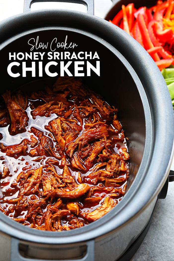 Shredded chicken in crock pot