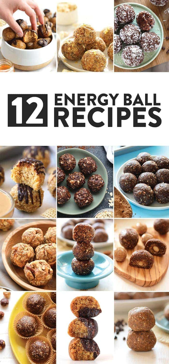 12 Healthy Energy Balls Recipes - Fit Foodie Finds
