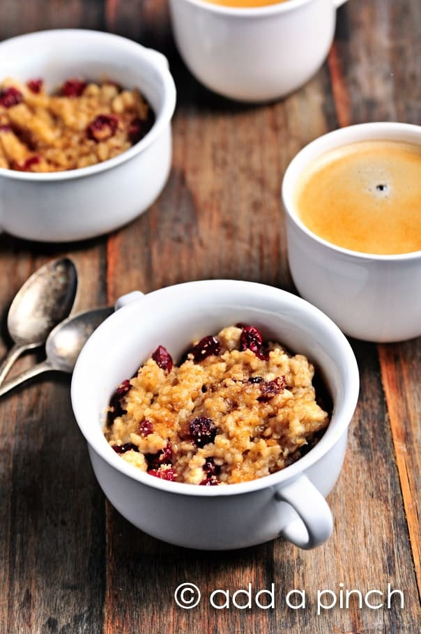 This Bruleed Cherry Oatmeal recipe is absolutely worth getting up for in the mornings.