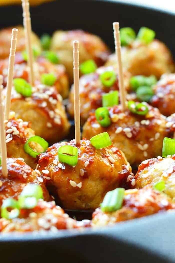 Healthy Kung Pao Meatballs