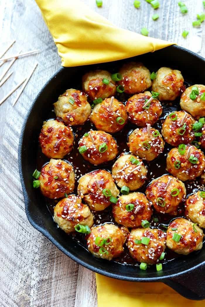 Healthy Baked Chicken Meatballs