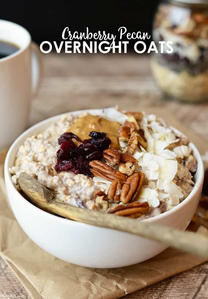 Breakfast doesn't get much better than Cranberry Pecan Overnight Oats. It's packed with protein and whole grains not to mention DELISH.
