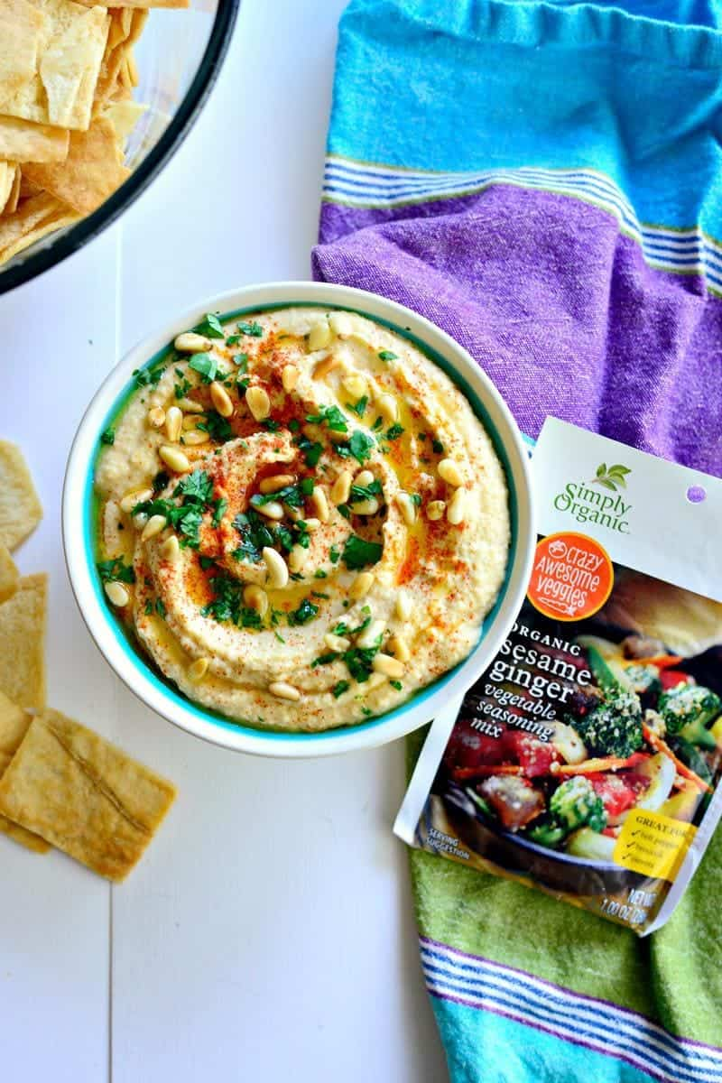 Switch up your snacks for the week and enjoy one of these healthy hummus recipes with a side of crackers or raw vegetables!