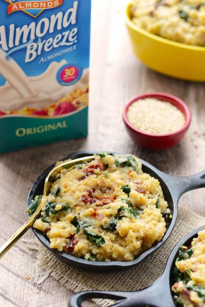 Love Mac n' Cheese? Amp up the nutrition and flavor in your homemade mac by using quinoa (so much protein!), sun dried tomatoes, and kale!