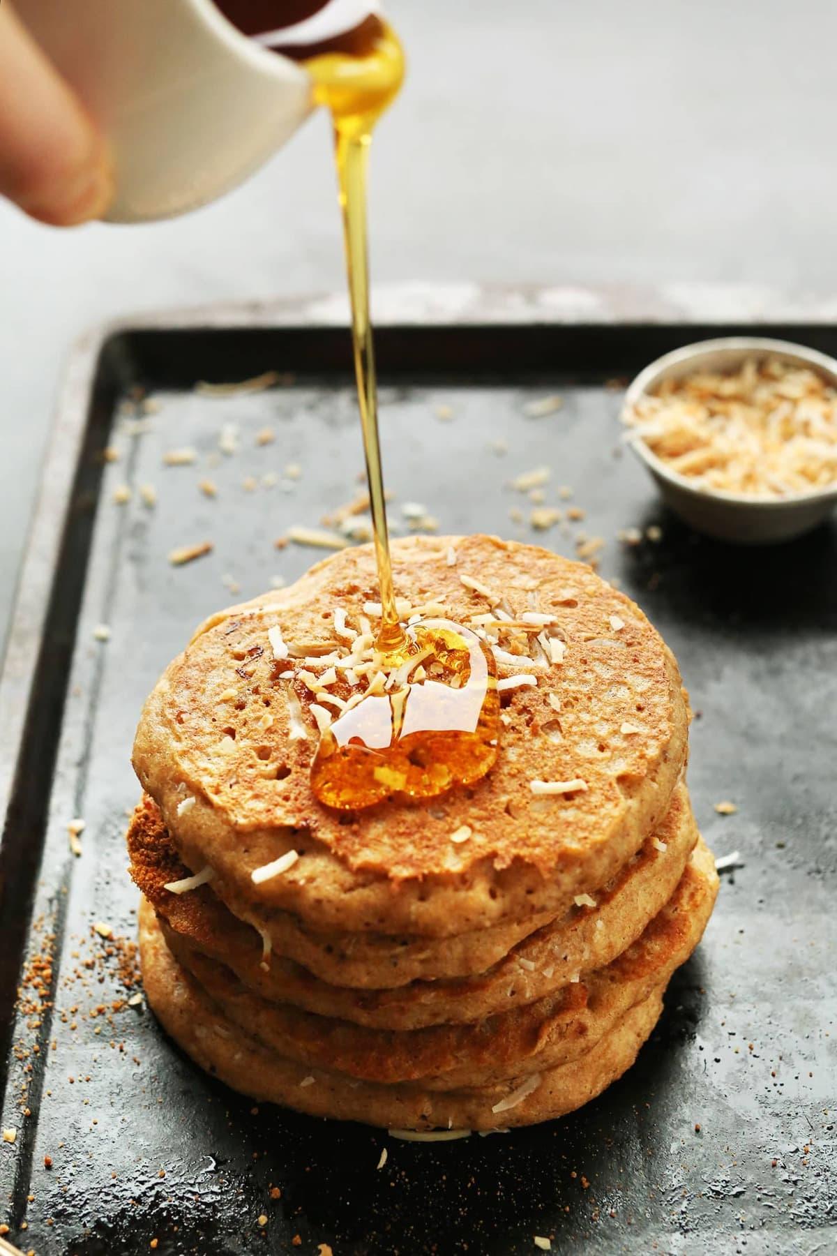 Toasted Cocoanut Pancakes