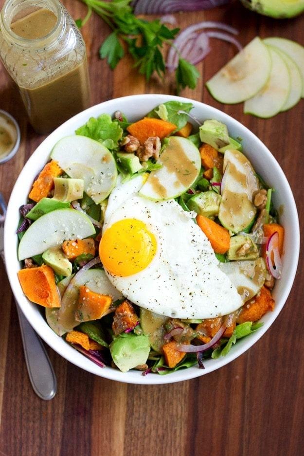 Fall Avocado Breakfast Salad