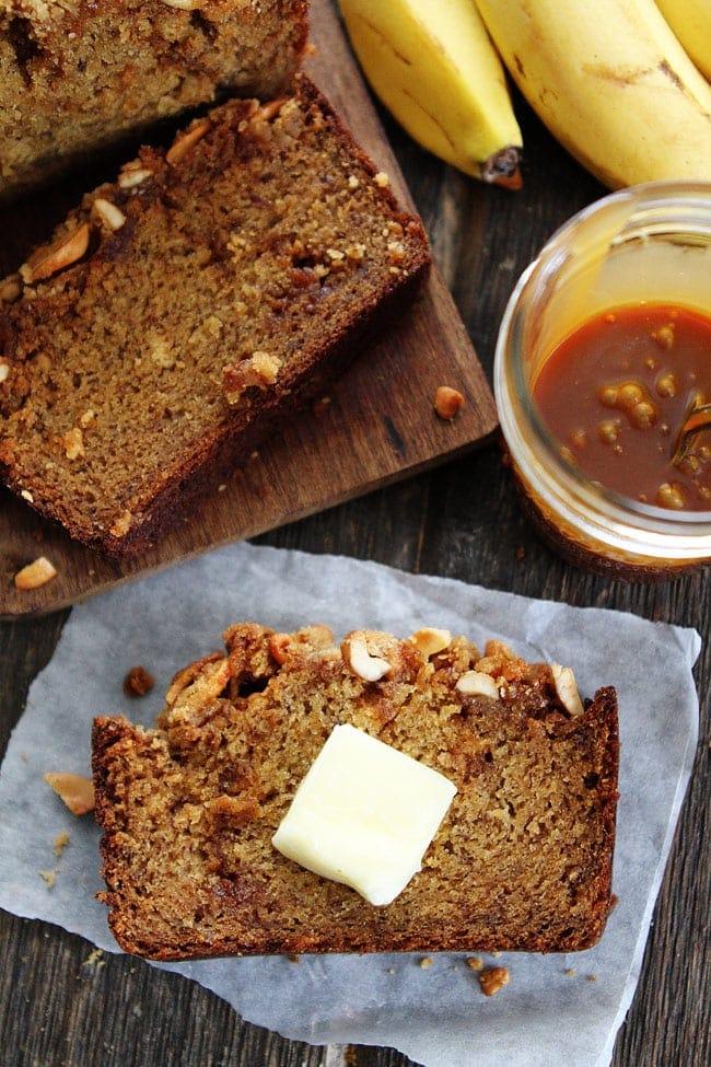 Salted Caramel Cashew Bread