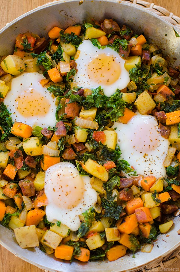 Sweet Potato Kale and Chorizo