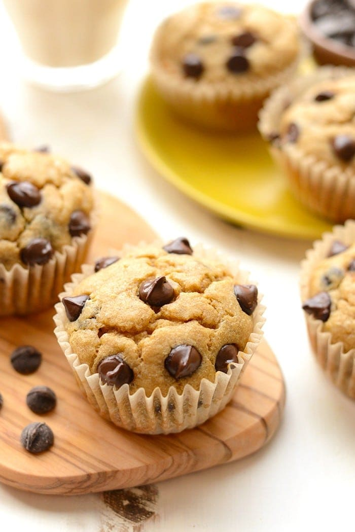 Healthy Banana Chocolate Chip Muffin