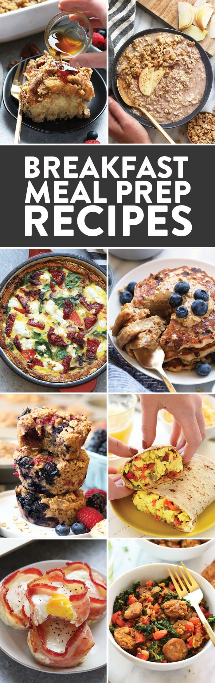 Jump on the meal prep train and save yourself some time and energy in the morning with these healthy breakfast meal prep recipes. Prep all of your breakfasts on Sunday so come Monday morning, you can sip your coffee with ease. Breakfast meal prep is a great way to start your morning off with a nutritional meal and a little less stress.