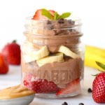 healthy chocolate peanut butter mousse