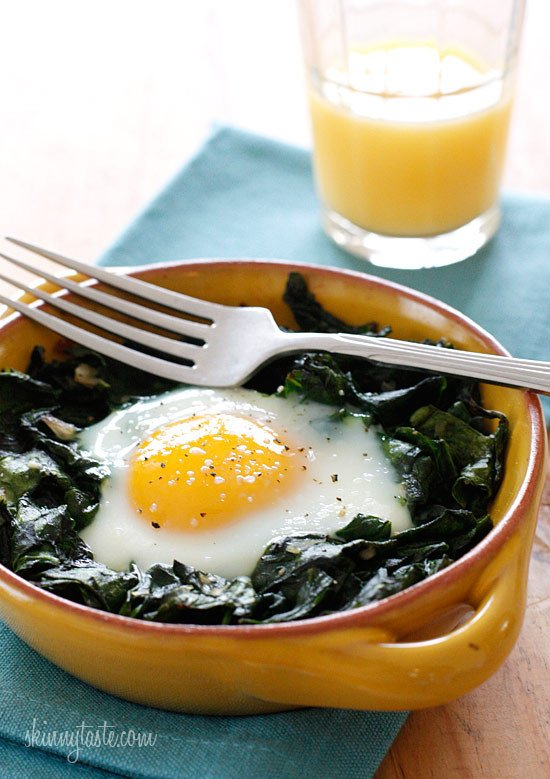 Baked-Eggs-with-Wilted-Baby-Spinach-550x779