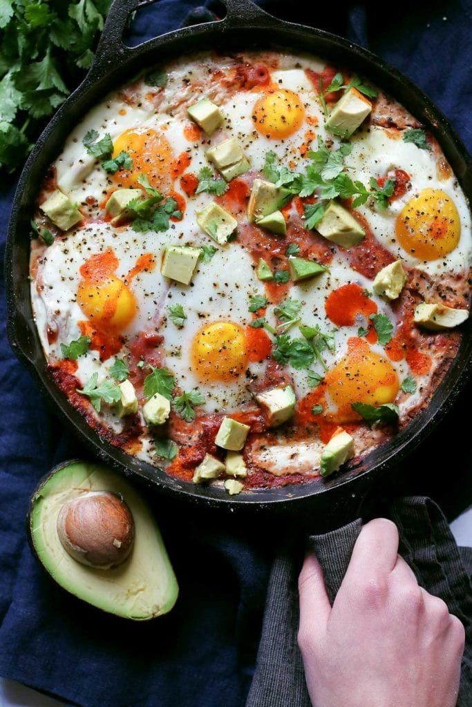 Polenta-Baked-Egg-Skillet