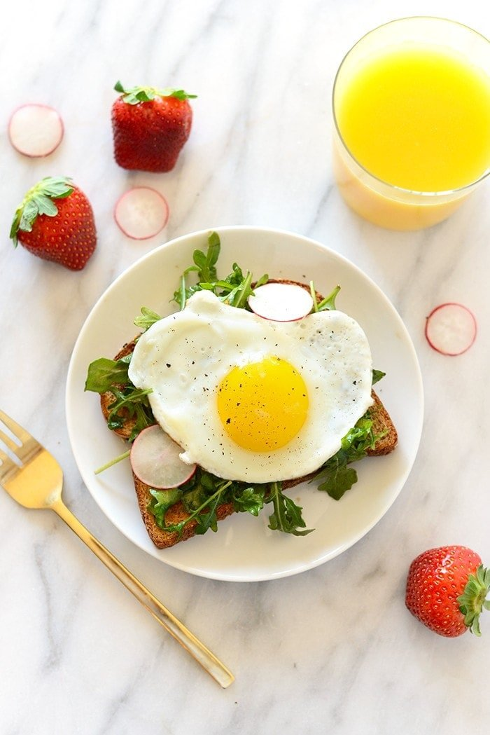 Toast Tuesday- Egg and Arugula Toast