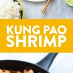 Got 15 minutes? Make this high protein, low carb Healthy Kung Pao Shrimp for an epic combination of flavors and a delicious healthy meal. No need to get takeout Kung Pao Shrimp when you can make your own healthy version at home.