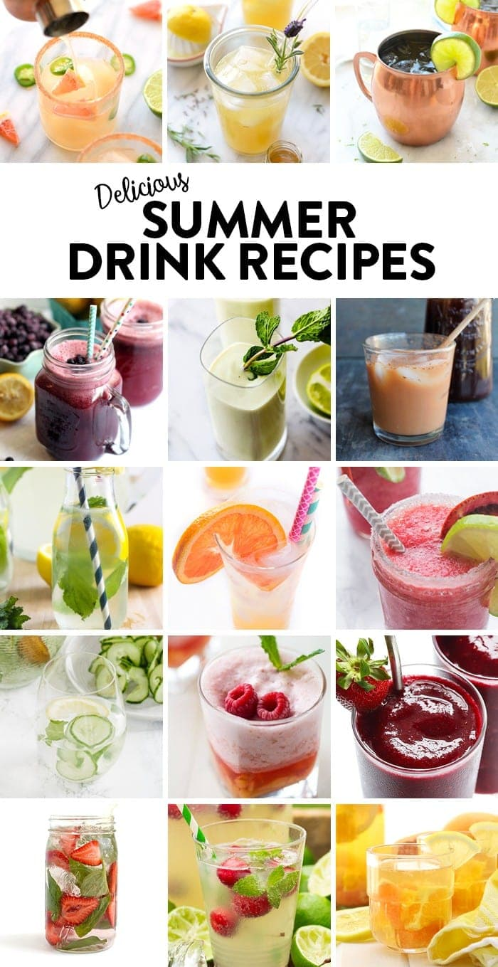 A round-up of delicious and beautiful summer drink recipes!