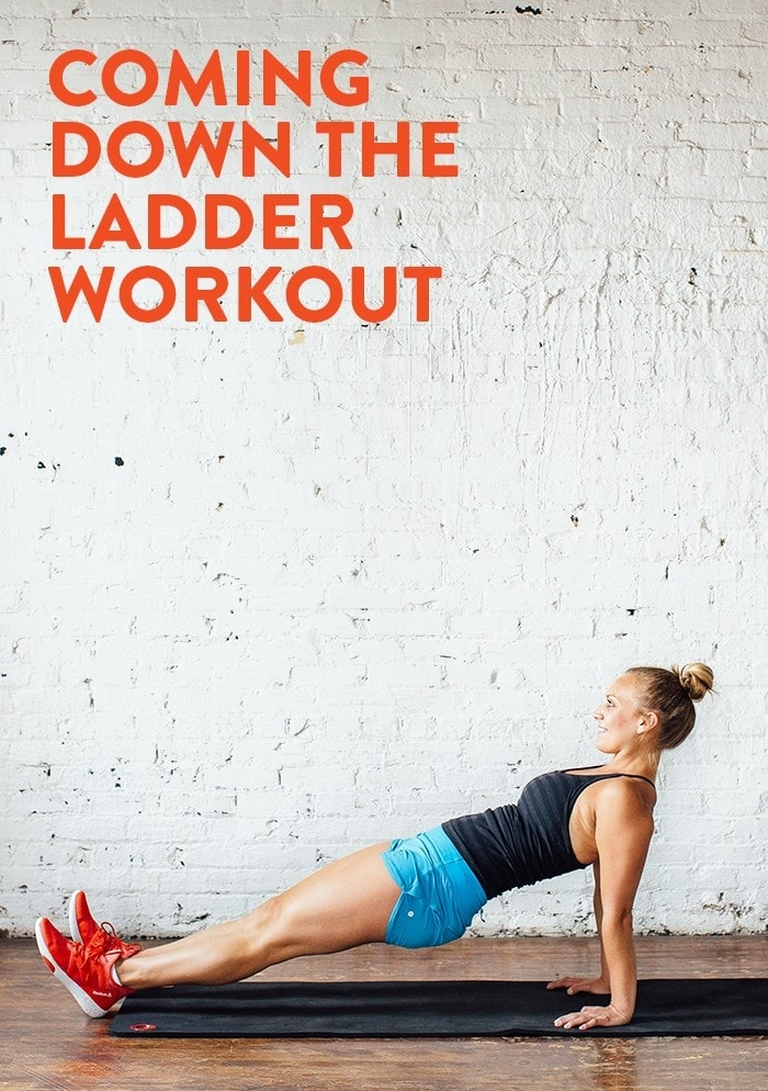 Need a bodyweight workout that will work your entire body and get your heart rate up? Mix strength training and plyometrics and do this Coming Down the Ladder Bodyweight Workout.