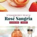 strawberry peach rose sangria
