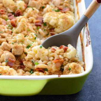 Cauliflower Mac n' Chicken Casserole
