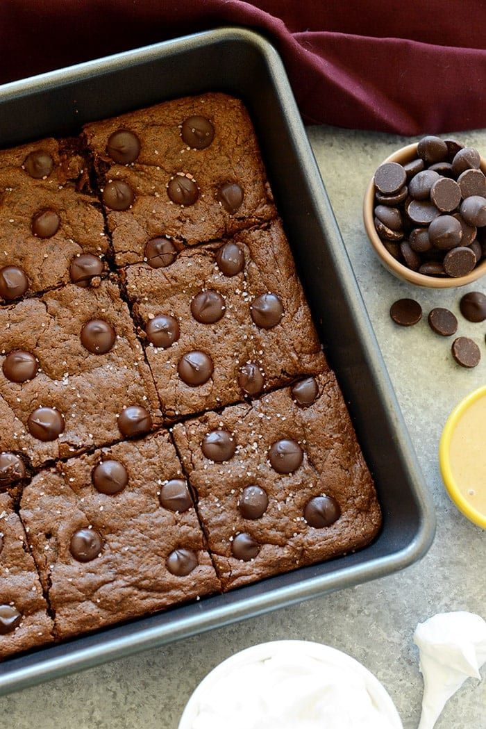 Flourless Cashew Butter Brownies - These are the ultimate flourless brownies made with a cashew butter base, no refined sugar, no butter, and of course, no flour!