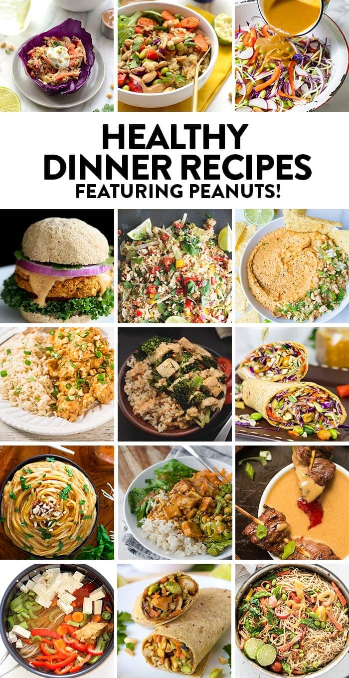 Here are 15 smart and nutritious dinner recipes featuring PEANUTS.