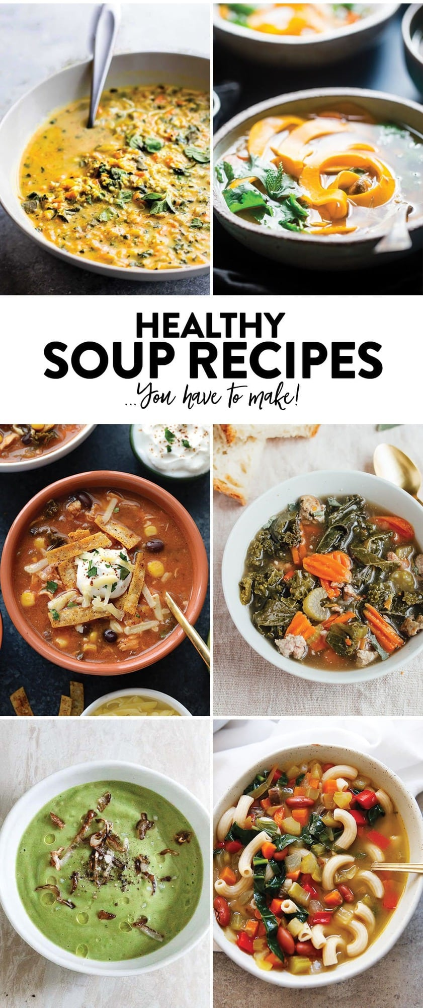 Healthy Soup Recipes...you have to make!