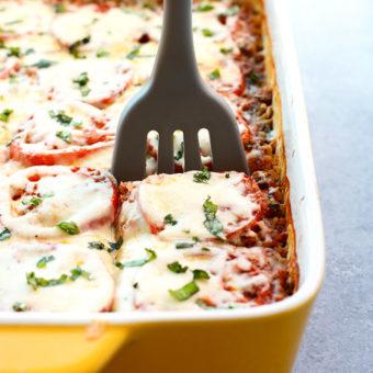 Naked Spinach Quinoa Lasagna Casserole