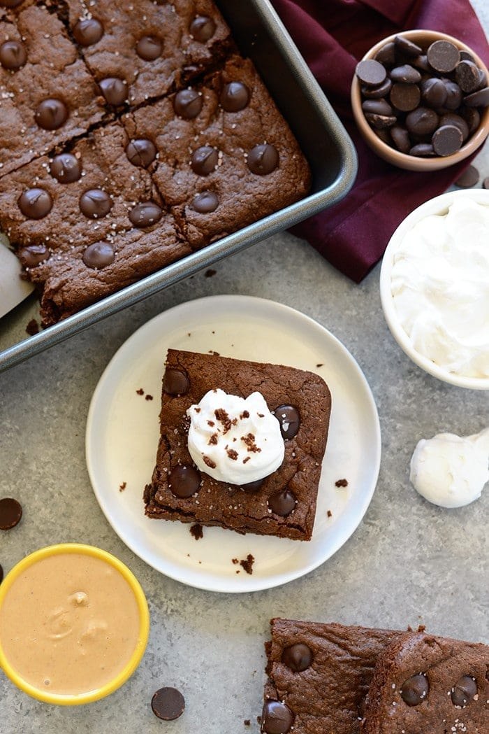 Flourless Cashew Butter Brownies by Fit Foodie Finds
