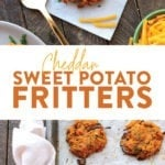 Cheddar Sweet Potato Fritters