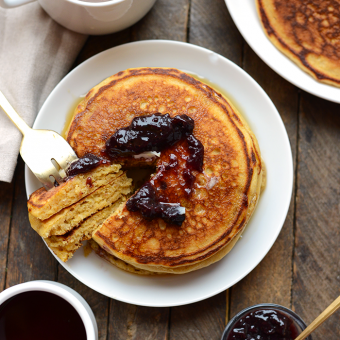 VIDEO: Whole Wheat Corn Meal Pancakes