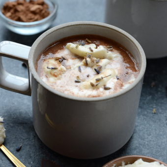 Deliciously Healthy Honey Lavender Hot Chocolate