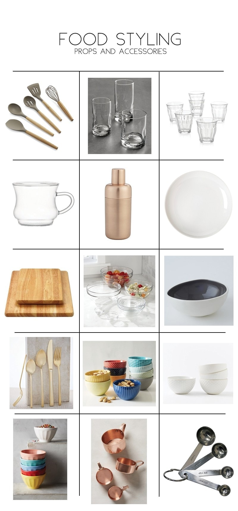 Fit Foodie Finds's favorite food style props and accessories!