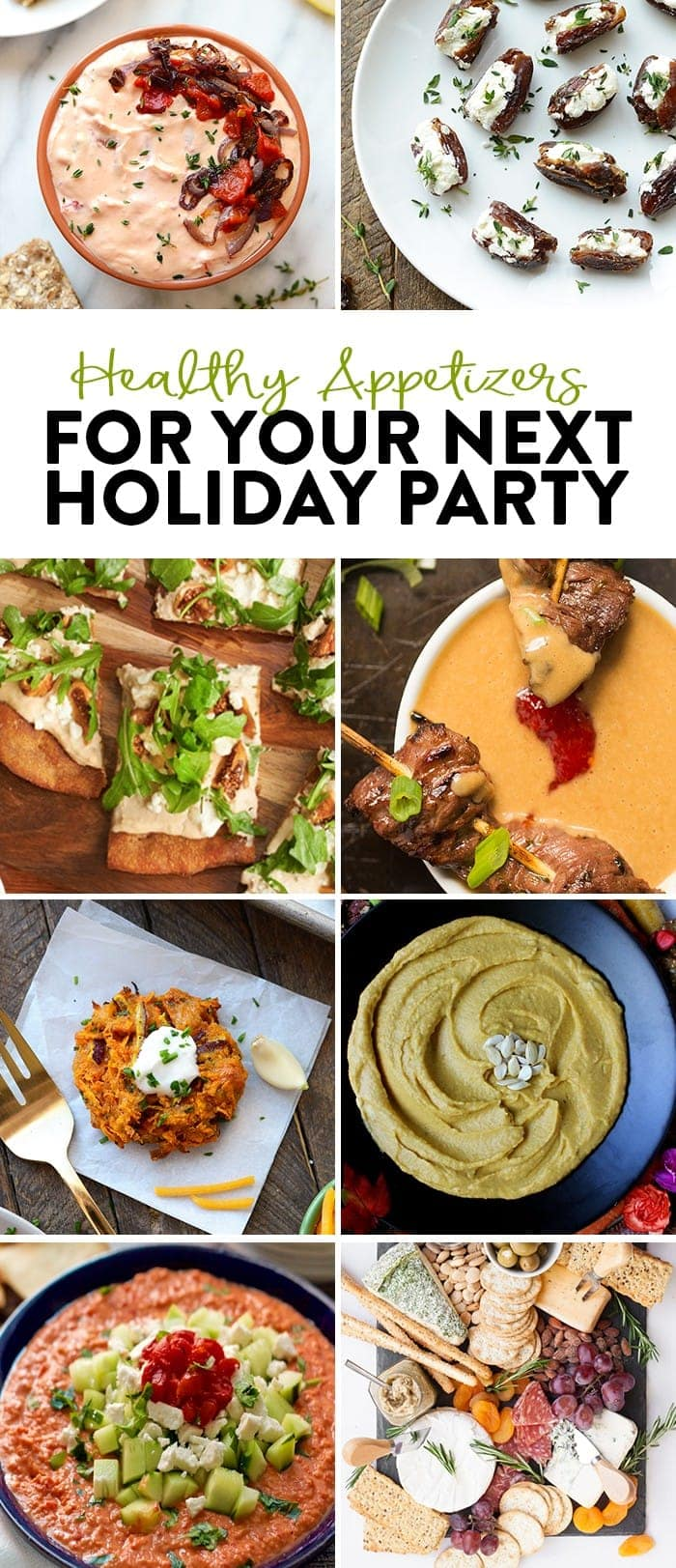 Need a few heathy appetizer ideas for your next holiday party? Look no further! Whether you like it sweet or savory...this Healthy Appetizer round-up is for you.
