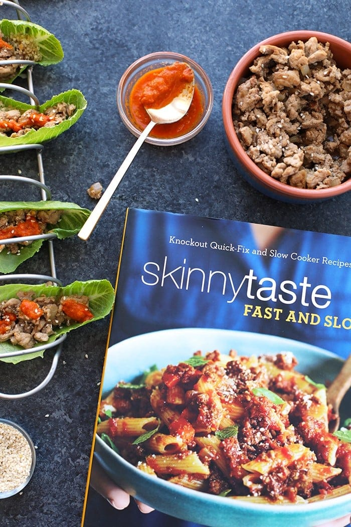 skinnytaste cookbook with korean lettuce wraps