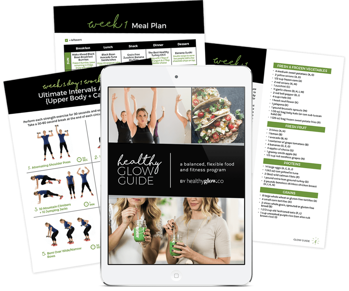 Healthy Glow Guide - a balanced, flexible food and fitness program by The Healthy Glow Collective.