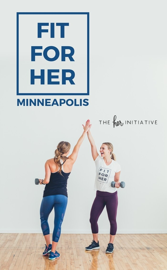 Fit For HER Minneapolis is coming to Minneapolis on February 18th and you're invited! Check out this 30 Minute Legs and Shoulders HIIT Workout inspired by the Her Initiative.
