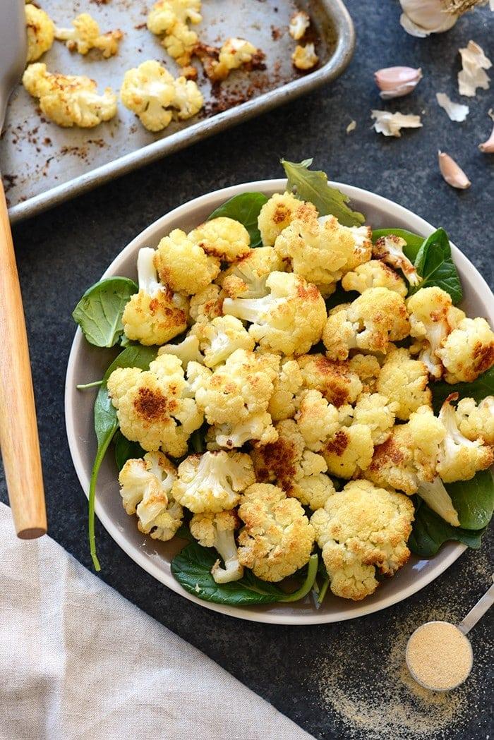 Super Simple Garlic Roasted Cauliflower