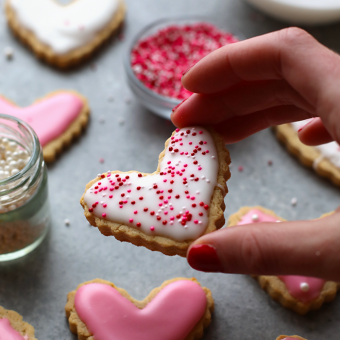 Healthy Sugar Cookie Cut-Outs made with almond meal and honey!