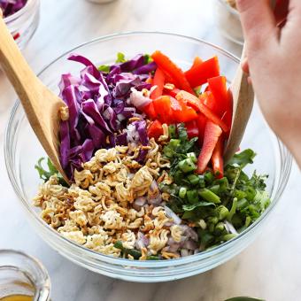 VIDEO: Crunchy Asian Kale Salad with Tangy Tamari Vinaigrette