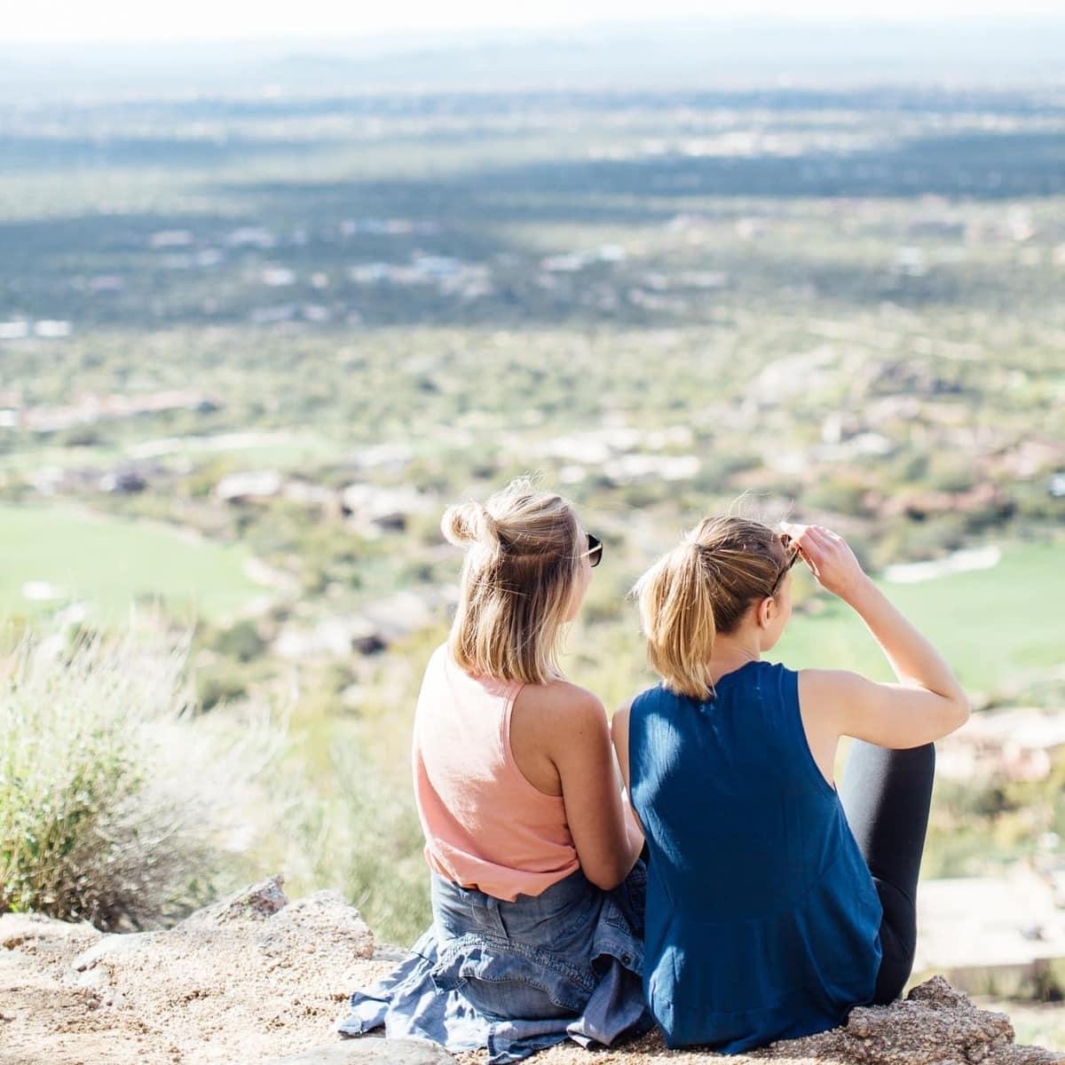 Lee and Monique atop Pinnacle Peak in AZ