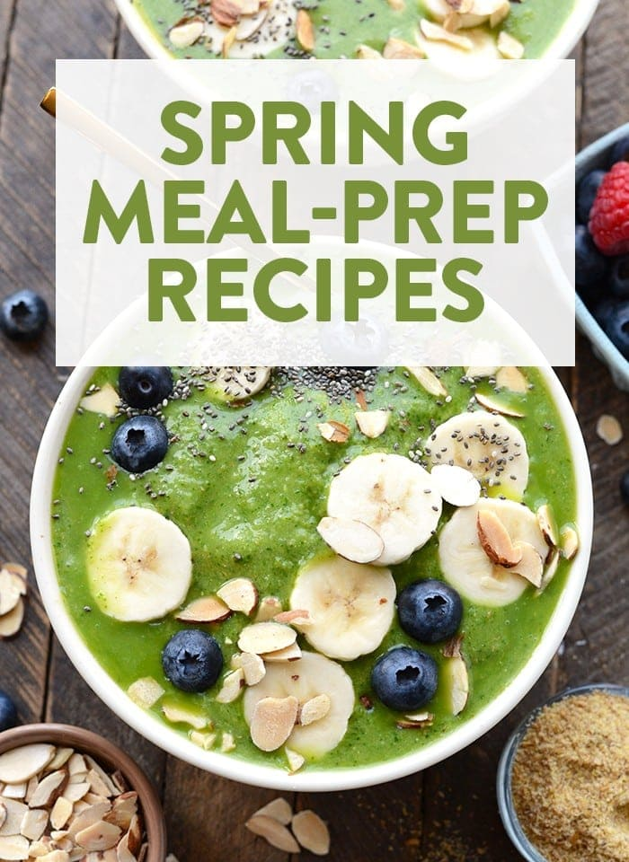 Spring has sprung! Kick off spring with seasonal, spring meal prep recipes for every meal.