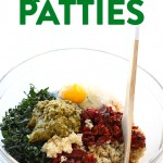 Start patio season off right with these healthy quinoa patties. They are vegetarian, packed with protein, and you can bake them in the oven or on the grill. So, go make these Sun-Dried Tomato Quinoa Patties, stat!