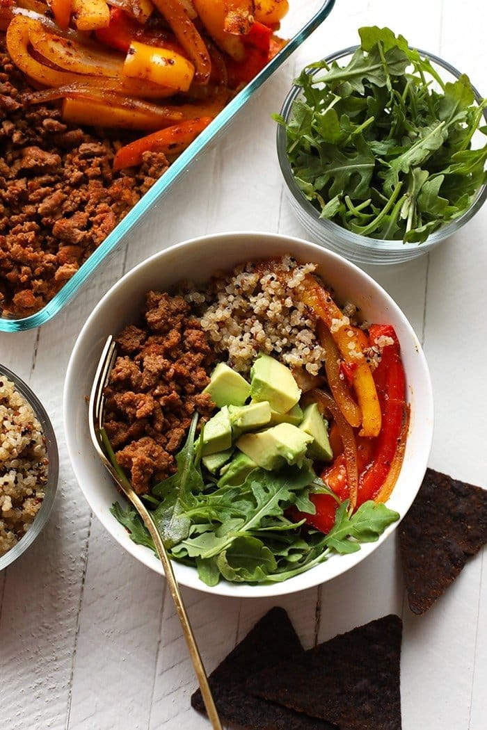All you need for Team Fit Foodie's go-to meal prep bowls is a protein + veggies + grains. Make lunch for the week a breeze and give Team fit Foodie's Go-To Meal Prep Bowl a try!