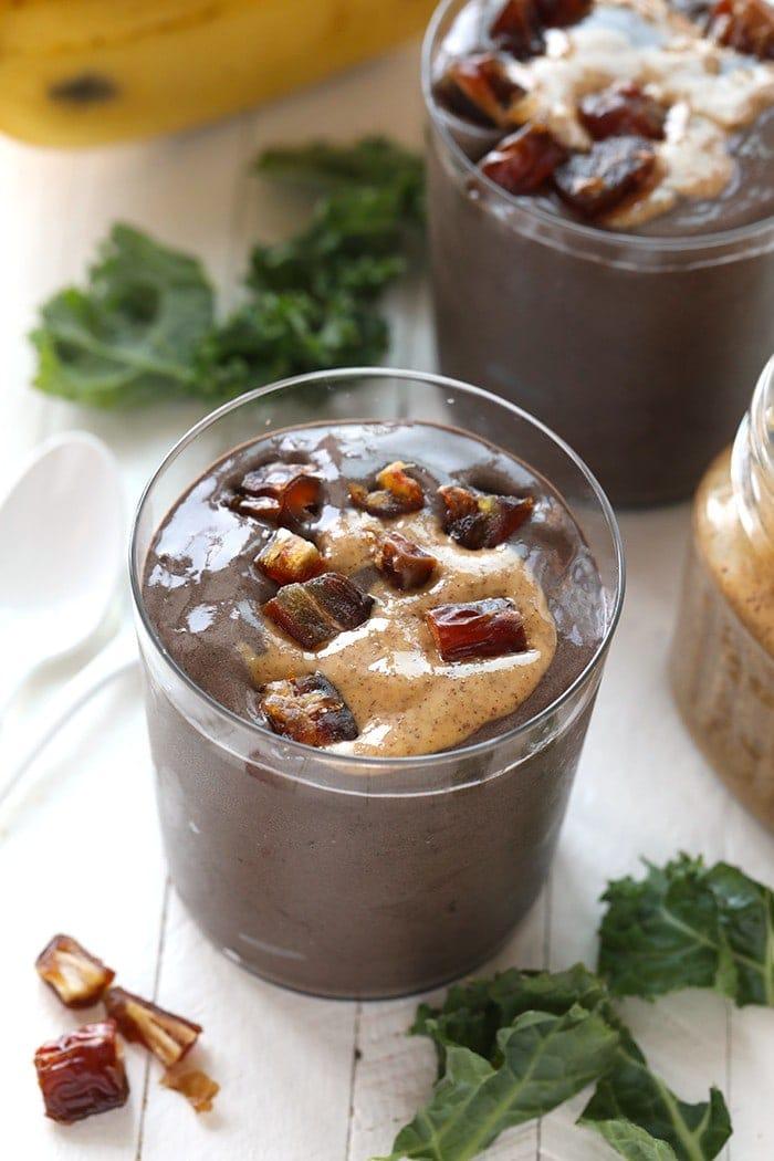 dark chocolate protein date smoothie