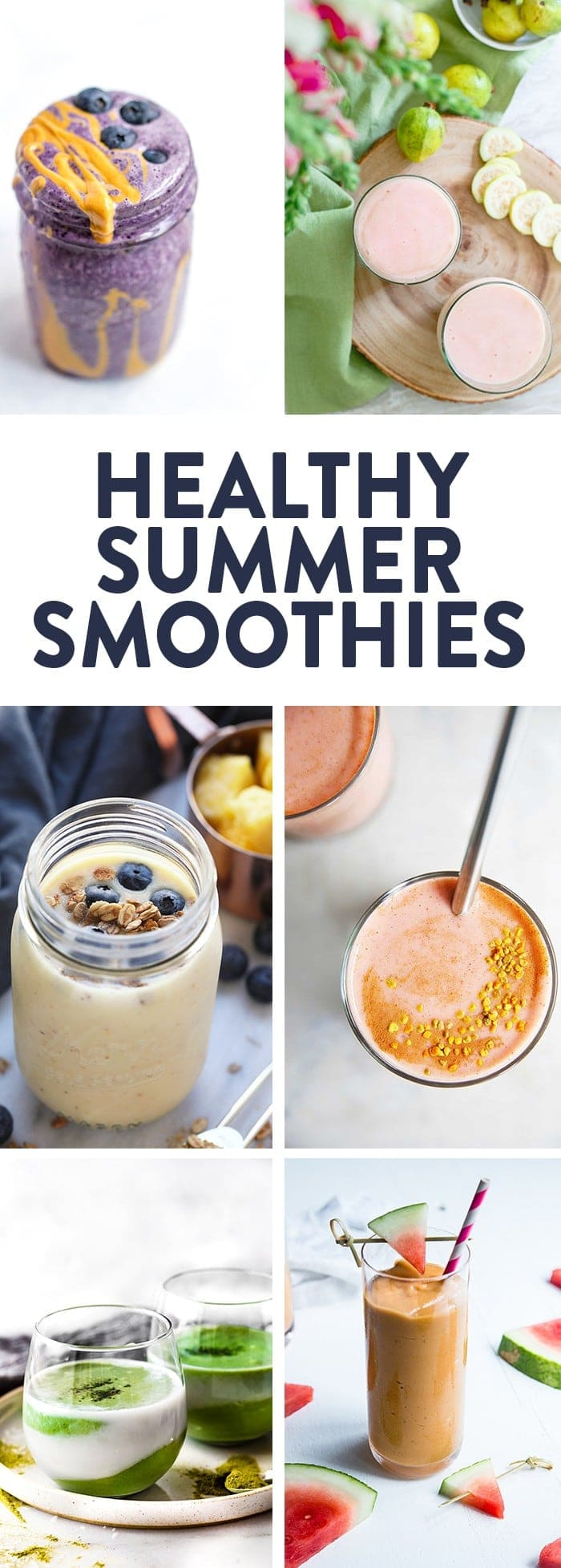 The best healthy smoothie recipes perfect for spring and summer! Gluten free, dairy free, and paleo options!