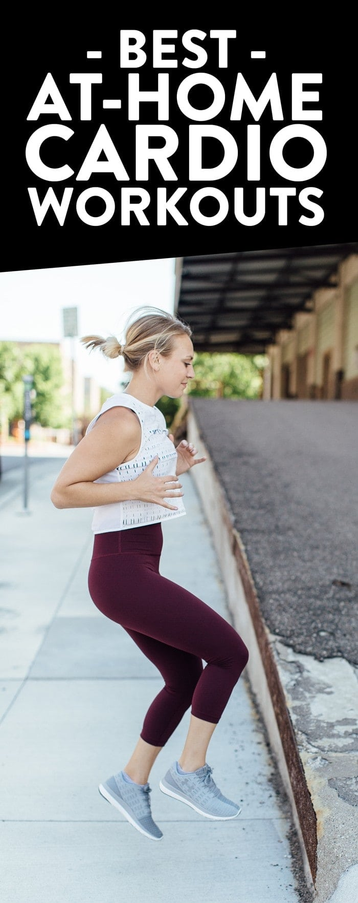Boost your mood and your cardiovascular strength with these at-home cardio workouts. They are challenging, fun and they call for minimal equipment. Remember, you're always one workout away from a good mood. You got this!