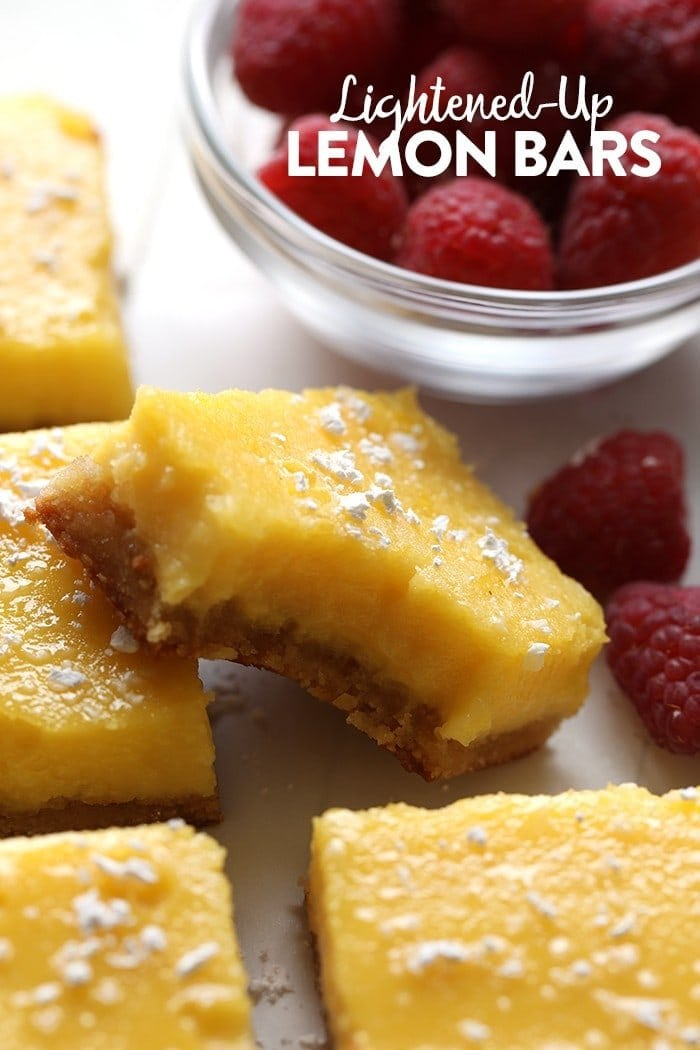 gluten free lemon bars with bite taken out of it
