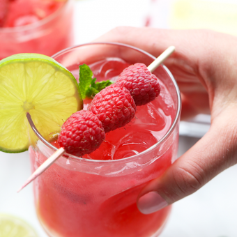 Raspberry Ginger Mojitos + Berry Barre Happy Hour